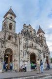 Igreja e povos de Guadalupe em Granada central Fotografia de Stock