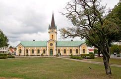 Igreja e quadrado de Sweden Bornholm Imagens de Stock Royalty Free