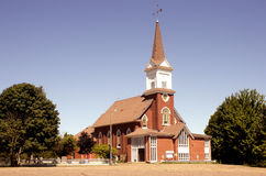 Igreja e Steeple fotografia de stock