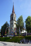 Igreja elevada Fotos de Stock Royalty Free