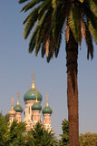 Igreja em agradável, France do russo Imagem de Stock Royalty Free