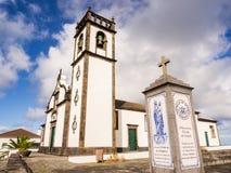 Igreja em Algarvia na ilha de Miguel do Sao, Açores, Portugal Fotos de Stock Royalty Free