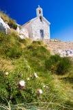 A igreja em Biokovo Fotografia de Stock