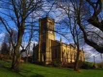 Igreja em Blackley, Manchester, Reino Unido imagens de stock royalty free
