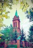 Igreja em Blagoveshchensk, Rússia foto de stock