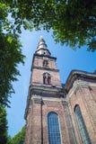 Igreja em Copenhaga Dinamarca imagens de stock