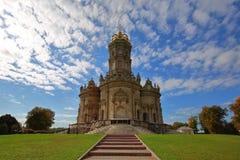 Igreja em Dubrovitsy imagens de stock royalty free