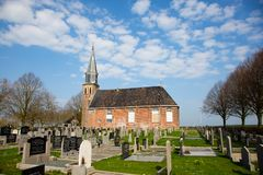 Igreja em Echten imagens de stock