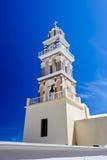 Igreja em Fira, Santorini Fotografia de Stock