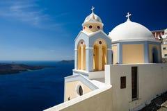 Igreja em Fira, Santorini Imagens de Stock