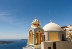 Igreja em Fira, Santorini Fotos de Stock