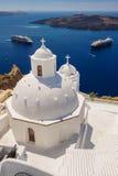 Igreja em Fira, Santorini Imagem de Stock