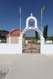 Igreja em Grécia, ilha do Rodes Fotografia de Stock Royalty Free