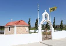 Igreja em Grécia, ilha do Rodes Foto de Stock