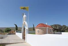 Igreja em Grécia, ilha do Rodes Imagens de Stock Royalty Free