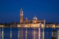 Igreja em Grand Canal, Veneza de San Giogio Maggiore Foto de Stock