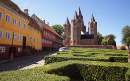 Igreja em Kalundborg (Dinamarca) Fotografia de Stock