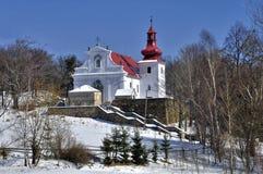 Igreja em Kvetnov - peregrinação Foto de Stock Royalty Free