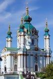 Igreja em Kyiv, Ucrânia do St. Andrew Imagens de Stock