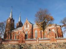 Igreja em Lithuania imagens de stock