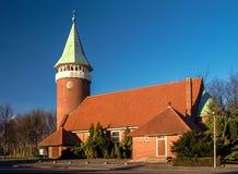Igreja em Luttelgeest, Flevoland, Países Baixos imagens de stock