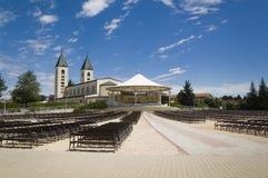 Igreja em Medjugorje Foto de Stock Royalty Free