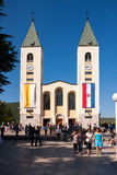 Igreja em Medjugorje Herzegovina Foto de Stock