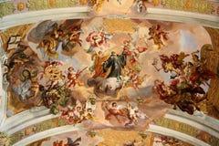 Igreja em Melk Fotos de Stock Royalty Free