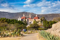 Igreja em Mitla, Oaxaca de San Pablo, México fotografia de stock royalty free