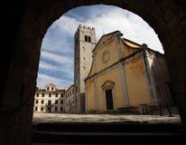 A igreja em Motovun imagem de stock