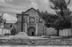Igreja em preto e branco Foto de Stock