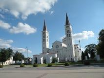 Igreja em Rietavas, Lithuania fotografia de stock royalty free