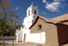 Igreja em San Pedro de Atacama - Chile fotografia de stock
