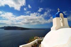 Igreja em Santorini imagens de stock royalty free