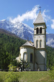 Igreja em Sulden Foto de Stock Royalty Free
