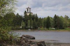 Igreja em Sunne no condado de Jamtland, Suécia foto de stock royalty free