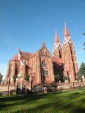 Igreja em Sveksna, Lithuania fotografia de stock