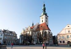 Igreja em Tabor, checo Fotografia de Stock Royalty Free