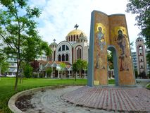 Igreja em Tessalónica, Greece Fotografia de Stock