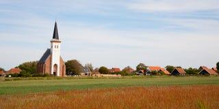 Igreja em Texel imagens de stock