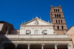 Igreja em Trastevere, Roma de Santa Cecilia Imagem de Stock