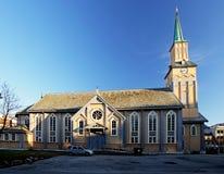 Igreja em Tromso Imagens de Stock Royalty Free