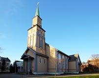Igreja em Tromso imagem de stock royalty free