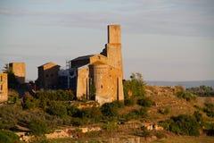 Igreja em Tuscania imagens de stock royalty free