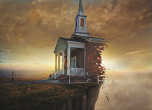 Igreja em um penhasco Imagens de Stock