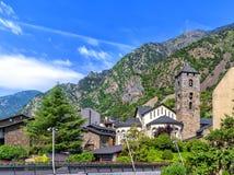Igreja em velinos do la de Andorra, Andorra de Sanat Esteve Fotografia de Stock Royalty Free