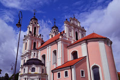 Igreja em Vilnius Foto de Stock