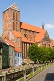 Igreja em Wismar em Alemanha fotos de stock