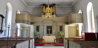 Igreja episcopal da paróquia de Bruton, Williamsburg fotos de stock royalty free