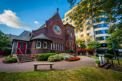 Igreja episcopal do ` s de St Peter, em Charlotte da parte alta da cidade, Carolin norte fotos de stock